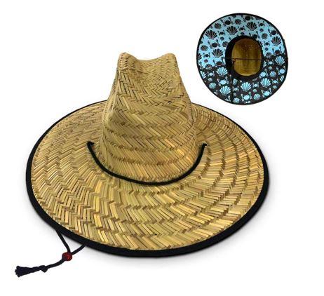 chapeu de palha estampado