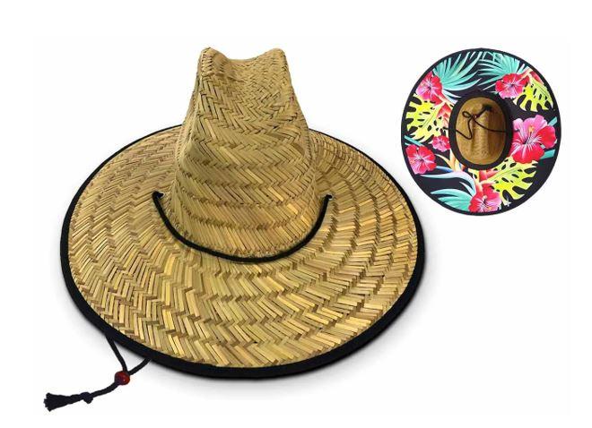 chapeus de palha surf estampados